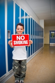 Child no smoking sign