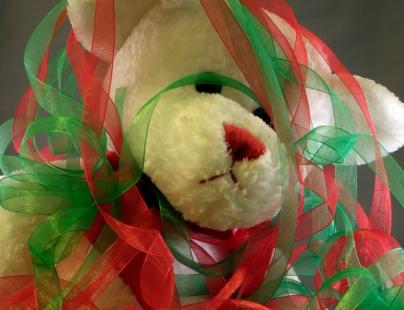 overwhelmed christmas bear sad lonely
