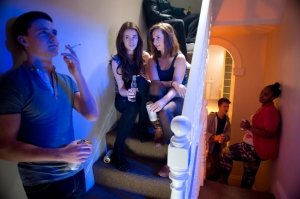 teenage pot and booze at a house party