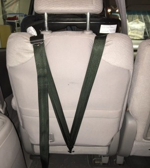 Tether strap on a forward-facing car seat