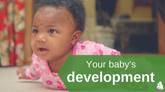 Your baby's development: baby doing tummy time on floor