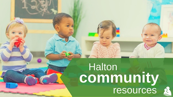Halton community resources: 4 toddlers sitting together for circle time