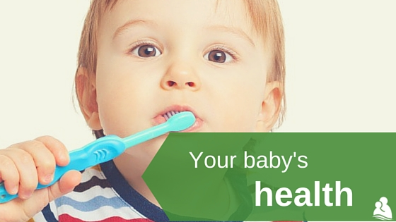 Your baby's health: toddler brushing teeth